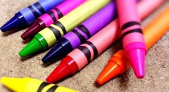 close up of crayons